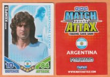 Argentina Mario Kempes Valencia International Legend